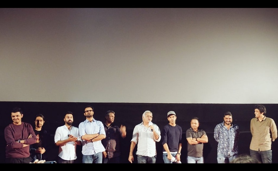The cast and crew of Omerta. The Hansal Mehta film was the closing film at Jio MAMI 19th Mumbai Film Festival. Image from Twitter/JioMAMIwithStar