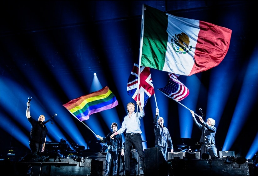 Paul McCartney performs in front of 48000 fans in earthquake-hit Mexico