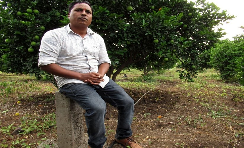 Balasaheb Hekde, a horticulturalist from Maliwada, says that the farmers of his village resisted when MSRDC officials came to inspect their land. Image procured by Parth MN