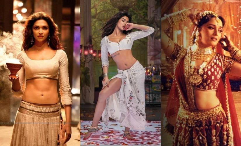 Deepika Padukone in Ram Leela, Priyanka Chopra in Ram Leela, Madhuri Dixit in Devdas. Images from Facebook.