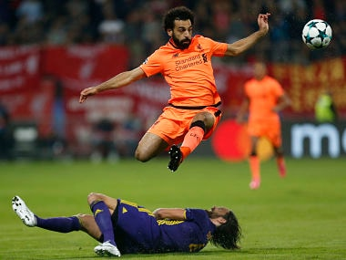 Liverpool's Mohamed Salah in action during the Champions League match against Maribor. AP