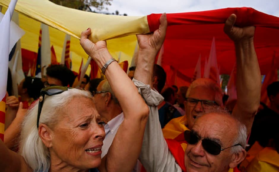 The Catalan separatist drive has raised concerns for stability in European Union still coming to terms with Britain's shock decision to leave the bloc. AP