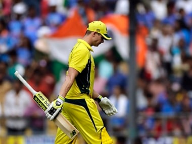 Steven Smith walks back to pavilion after his dismissal during the fifth ODI. AP