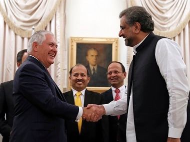 Pakistan PM Shahid Khaqan Abbasi meets Rex Tillerson, says Islamabad is committed in war against terror