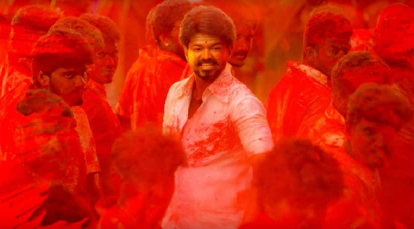 Vijay in a still from Mersal