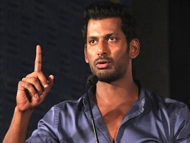 Tamil actor Vishal. Image from Twitter/@flickstatus.