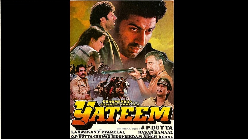 Why JP Dutta's Yateem (1989) comes closest to a classic Western in the context of popular cinema
