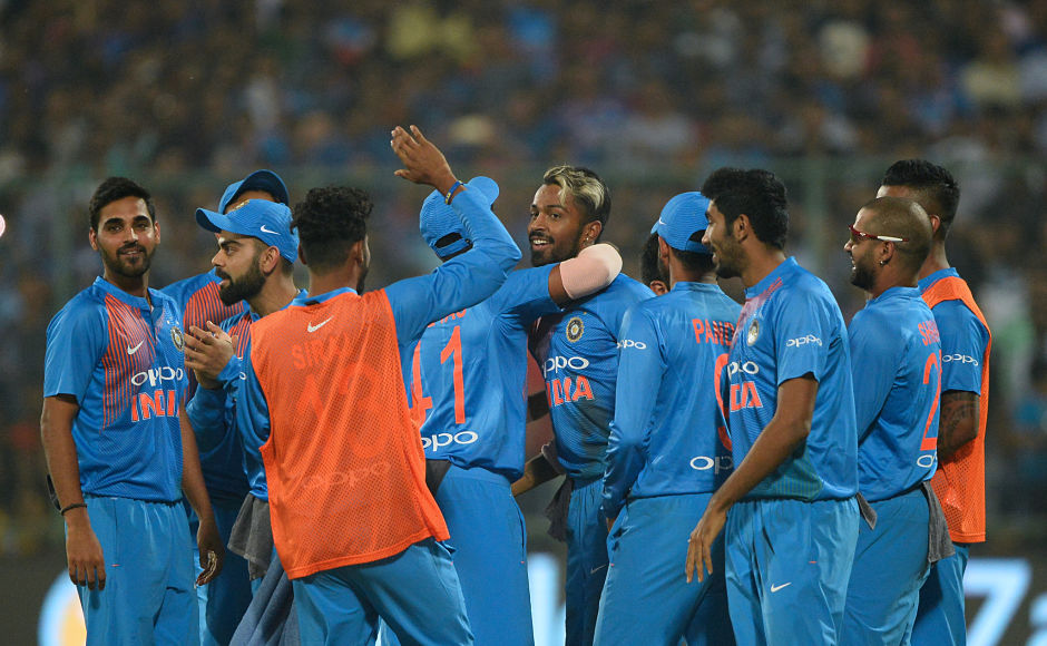 The Kiwis were off to a bad start as they lost openers Martin Guptill and Colin Munro within the first three overs. Kane Williamson tried to curb the damage but Hardik Pandya got the wicket of the Kiwi captain in the 9th over. AFP