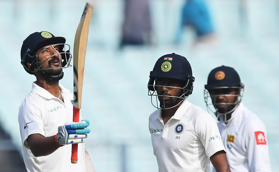 India's Cheteshwar Pujara started the day on a positive note as converted his overnight score of 48 into a half-century, but he soon fell for 52. AFP