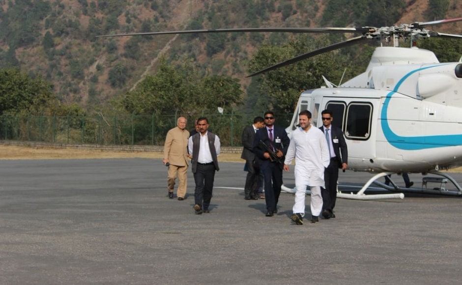 A day after Narendra Modi campaigned in poll-bound Himachal Pradesh, Congress vice-president Rahul Gandhi held three rallies in the hill state. Twitter/@INCHimachal
