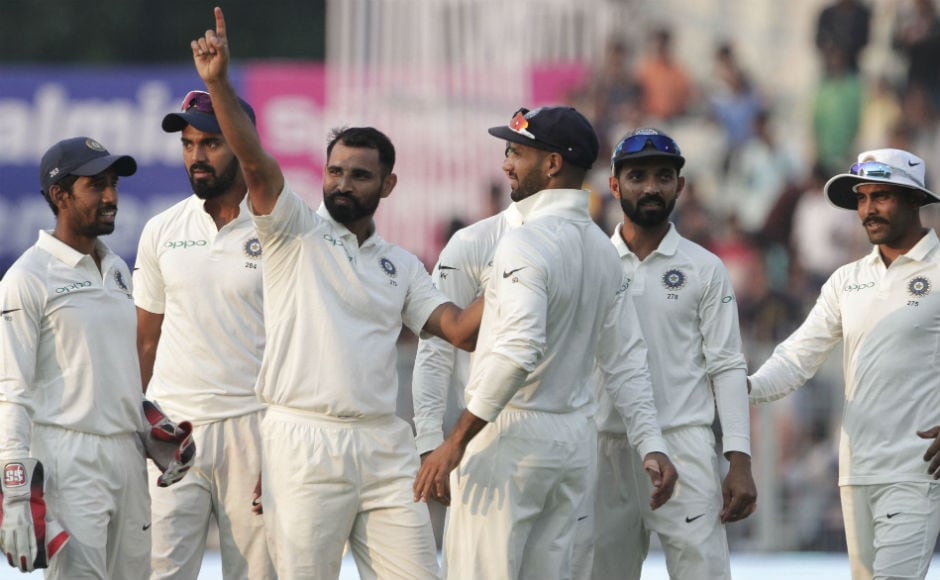 An exciting final day of cricket where India came close to victory but bad light ensured Sri Lanka survive the onslaught from Indian bowlers. They were 75/7, chasing 231 when umpires stopped the play. AP