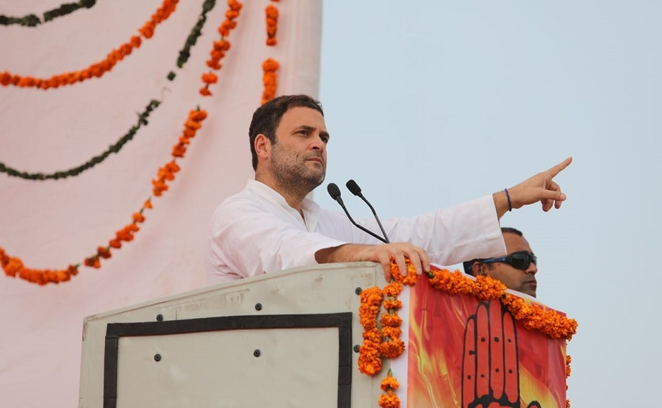 Rahul began his campaign from Sirmour district and then went on to address rallies in Kangra and Chamba district. Twitter/@INCIndia