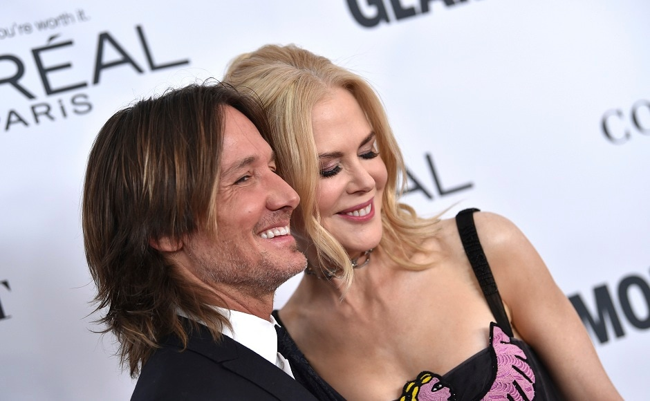 Keith Urban, left, and Nicole Kidman strike a pose.Image from AP