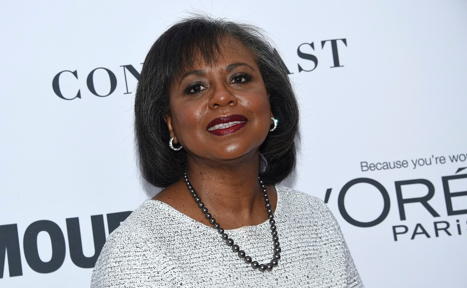 Anita Hill at this award ceremony, which was held atKings Theatre on Monday, 13 November, 2017, in New York. Image from AP