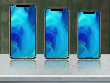 The comparative sizes of the three new Apple smartphones expected in 2018