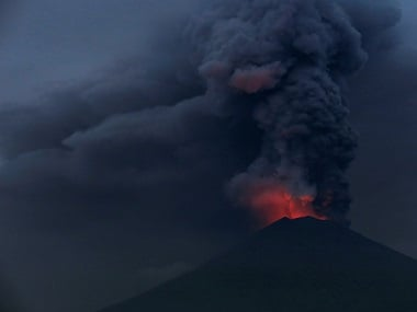 Mount Agung volcano erupts in Indonesia's Bali, disrupts aviation operations briefly; adjoining areas experience thick ash fall