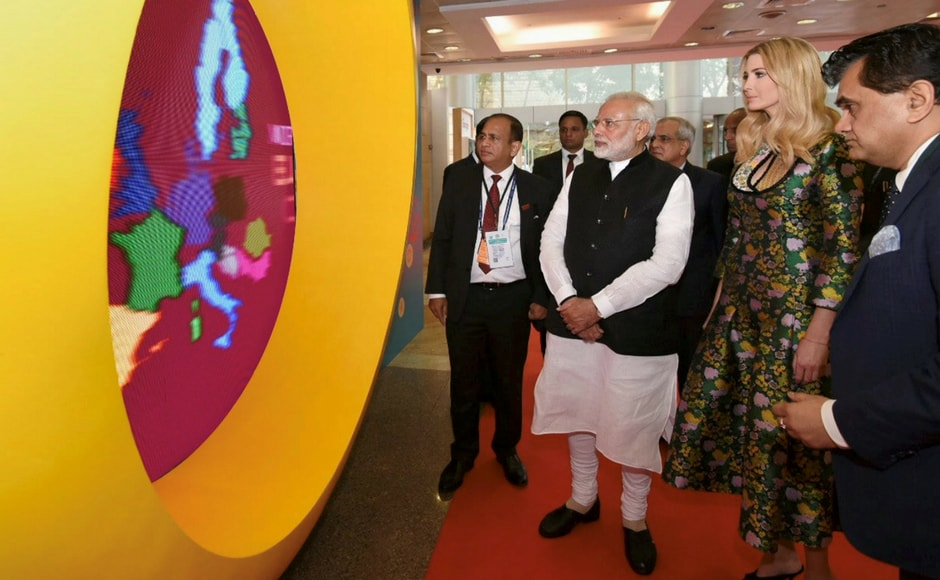 Ivanka Trump said that the summit was a symbol of strengthened friendship between the growing economic and security partnership between the two countries. Modi and Ivanka also visited a virtual exhibition at the Global Entrepreneurship Summit. PTI