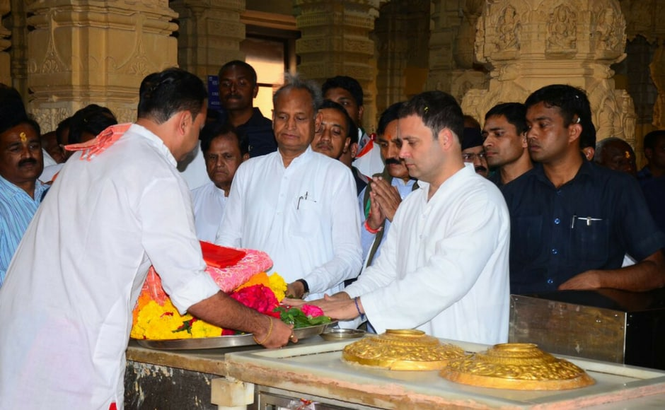 Rahul Gandhi on Wednesday kick started his two-day campaign in poll-bound Gujarat with a visit to the Somnath temple. Image procured by Darshan Desai