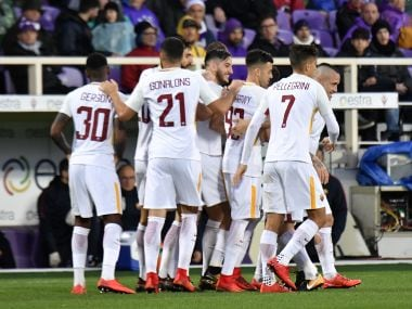 AS Roma will look to defeat bitter rivals Lazio in the Derby della Capitale. AFP