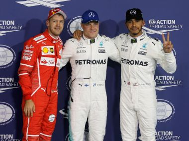 Abu Dhabi Grand Prix: Valtteri Bottas outpaces Mercedes teammate Lewis Hamilton to clinch pole position