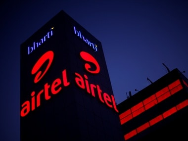 A Bharti Airtel office building is pictured in Gurugram. Image: Reuters.