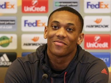 Football Soccer - Manchester United Press Conference - Saint-Etienne, France - 21/2/17 Manchester United's Anthony Martial during the press conference  Reuters / Robert Pratta Livepic - 14755144