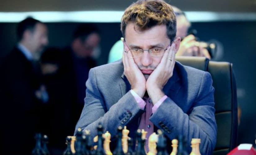 Levon Aronian in action. FIDE