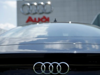Audi logo seen on an Audi A7 sedan. Image: Reuters.