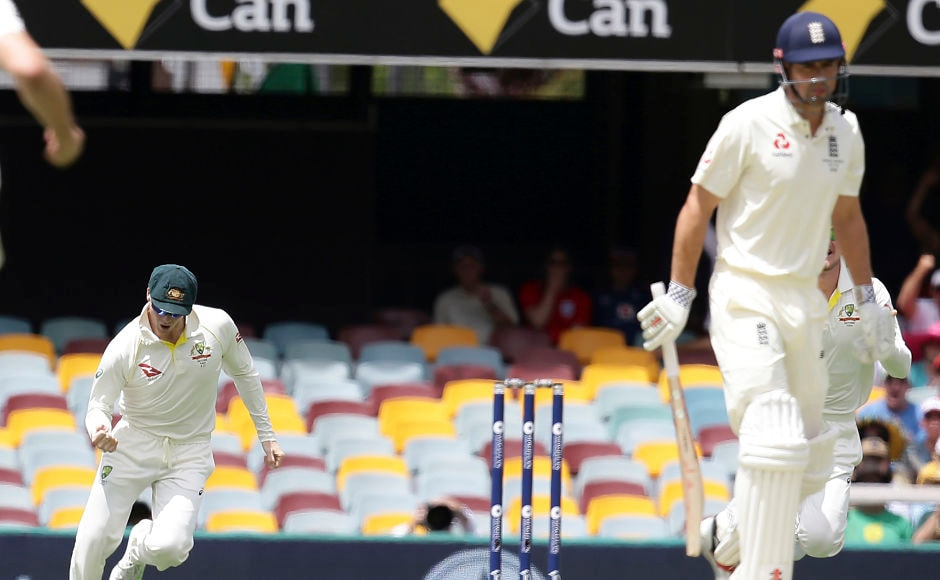 Australia got off to a perfect start as Mitchell Starc got rid of Alastair Cook in the third over. AP
