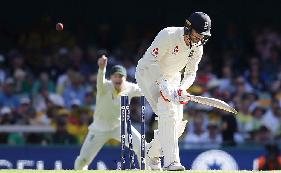 Mark Stonemanwas dismissed by Pat Cummins as Australia fought back into the match. AP