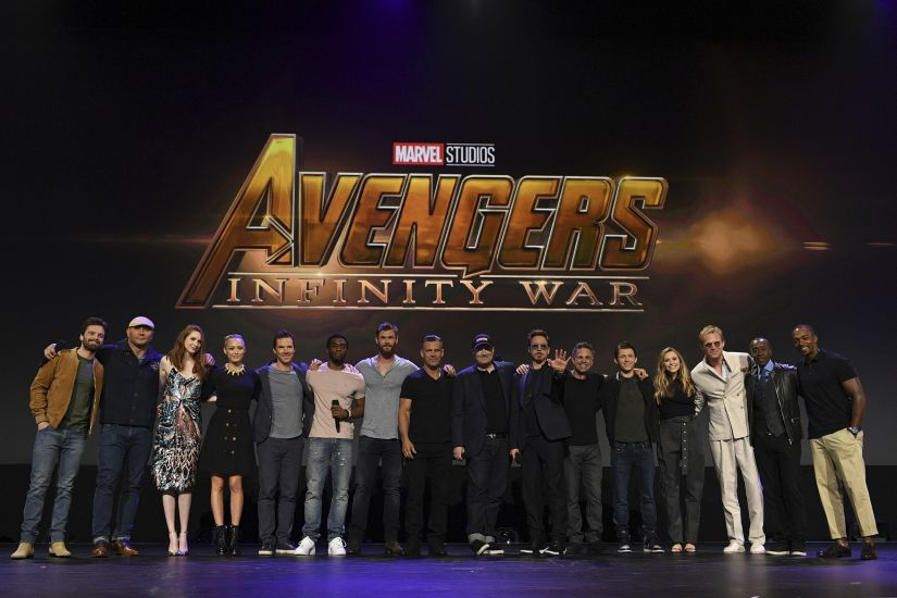 The cast and crew of Avengers: Infinity War at D23 Expo. Marvel Studios