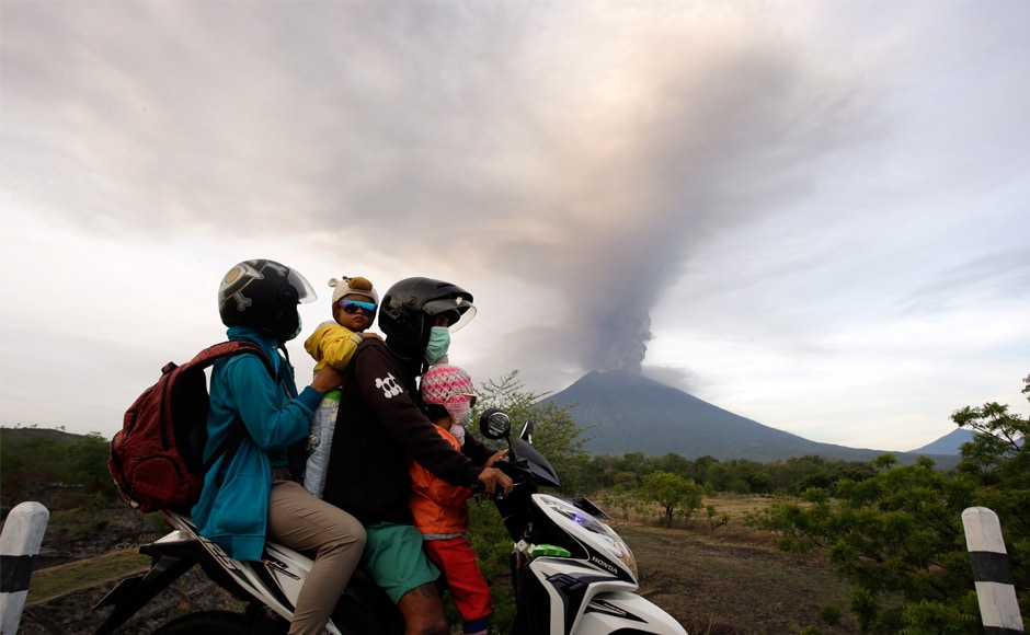 The volcano last erupted in 1963, killing about 1,600 people. Mount Agung is one of more than 120 active volcanoes extending the length of Indonesia, which straddles the Pacific Ring of Fire. AP
