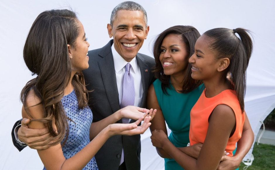 Former US President Barack Obama celebrated Thanksgiving with his wife Michelle and daughters Malia and Sasha.