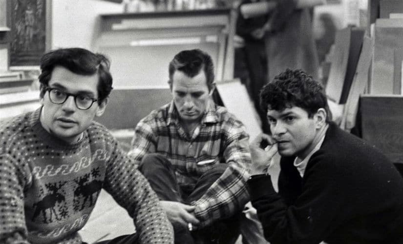 Allen Ginsberg, Jack Kerouac, and Gregory Corso in Greenwich Village, New York City, 1957. Twitter/@Chlodnyodcien