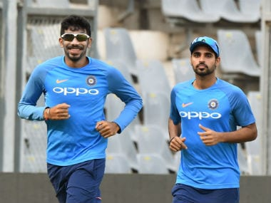 File image of Bhuvneshwar Kumar and Jasprit Bumrah. AFP