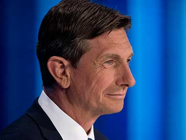 File image of the President of Slovenia Borut Pahor. AP