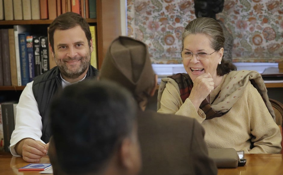 The meeting, chaired by Congress president Sonia Gandhi and held at her 10 Janpath residence, passed a resolution on Monday to make Rahul Gandhi Congress chief after due internal election. AP