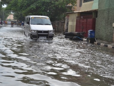 A file photo of a flooded street in a Tamil Nadu. PTI