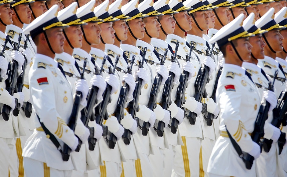 China's People's Liberation Army (PLA) navy soldiers. Reuters