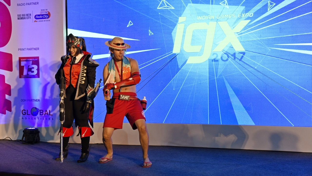 Cosplayers of characters from popular Blizzard title Overwatch at IGX 2017. Image: tech2/Rehan Hooda