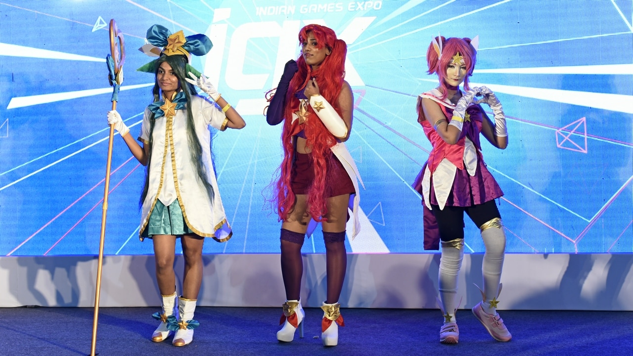 The trio who planned to come in from different cities to unite at IGX 2017 as League of Legends characters. Image: tech2/Rehan Hooda