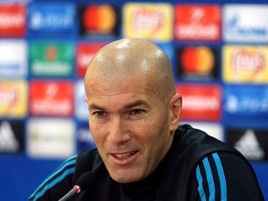 File image of Real Madrid coach Zinedine Zidane. AP
