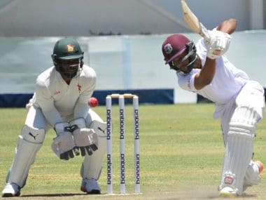Windies wrests control on Day 3 taking a vital 48-run lead with three wickets in hand. Image courtesy: Twitter @ICC