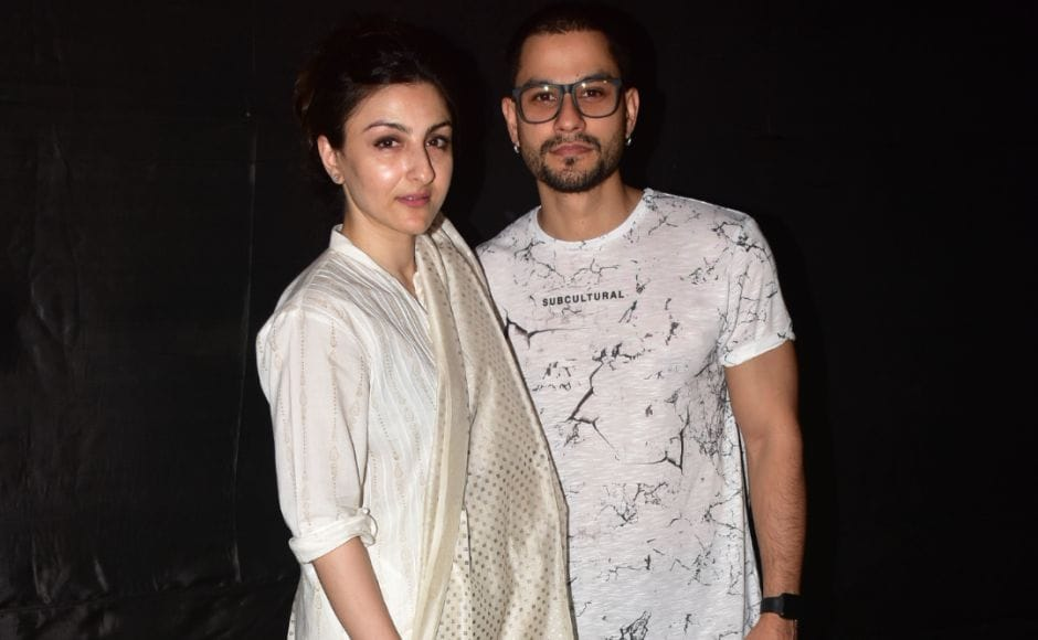 """Soha Ali Khan and her husband Kunal Khemu were spotted at the screening. Soha Ali Khan said the film was """"gripping, entertaining and revealing."""""""