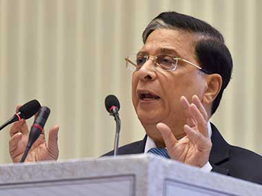 File image of Chief Justice of India (CJI) Dipak Misra. PTI