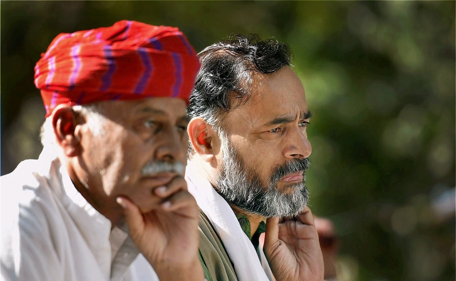Swaraj India leader Yogendra Yadav attended the Kisan Mukti Sansad and spearheaded the march from Ramlila Maidan to Parliament street near Jantar Mantar. PTI