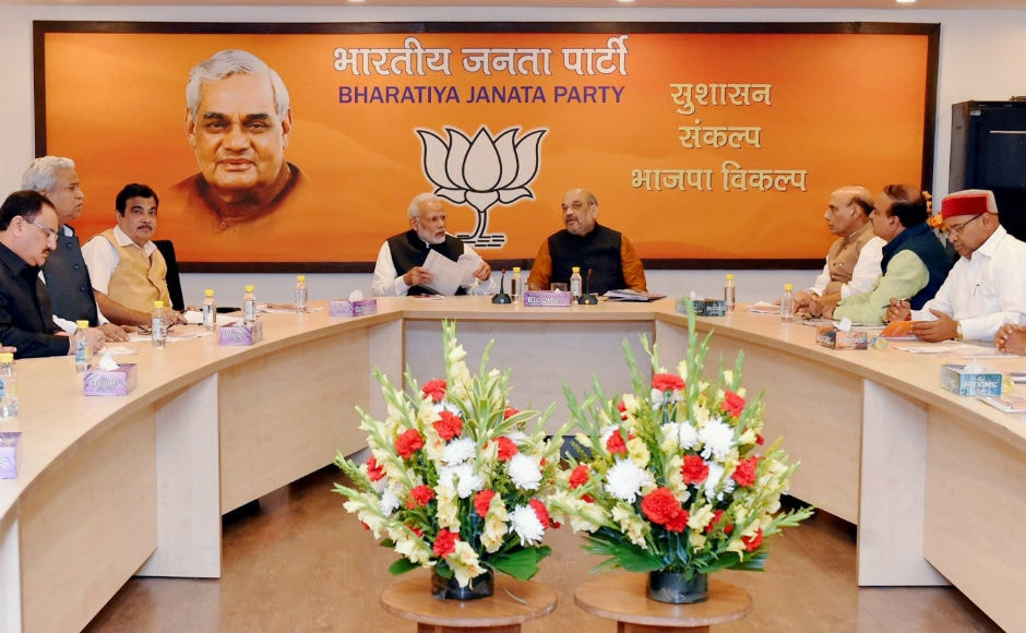 The BJP's parliamentary board, led by Narendra Modi and BJP president Amit Shah met on Wednesday at the BJP's national headquarters in Delhi to discuss probable candidates for Gujarat Assembly elections. PTI
