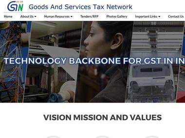 GST Network website's screengrab
