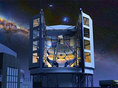 An artist's render of the Giant Magellan Telescope. Image: GMTO