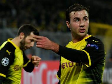 Bundesliga: Borussia Dortmund midfielder Mario Goetze out for six weeks with ankle ligament damage
